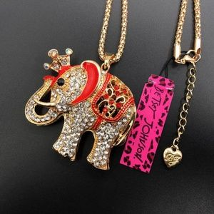 Betsey Johnson Replica Long Sweater Chain & Pendan